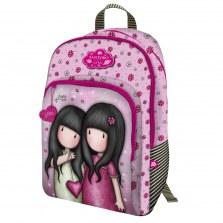 Plecak szkolny z 3 kieszeniami - Gorjuss Sparkle & Bloom - You Can Have Mine, Santoro