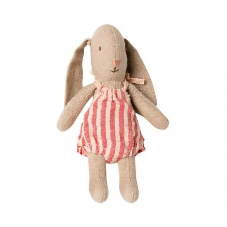 Micro Króliczek Dziewczynka w ubranku w paski, Maileg
