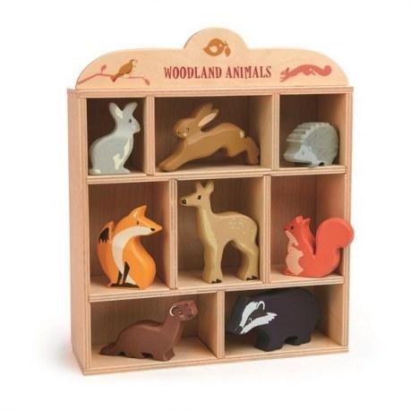 Drewniane figurki do zabawy - Leśne zwierzęta, Tender Leaf Toys