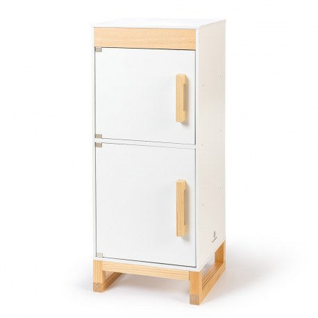 Drewniana lodówka FICUS biała, MUSTERKIND®