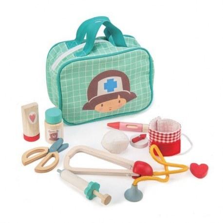 Drewniany zestaw małego medyka, Tender Leaf Toys