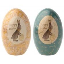 Ozdoby wielkanocne metalowe jajeczka 2szt FW2020, Maileg