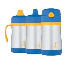 Bidon dla dzieci Foogo 3w1 z termoizolacją 6m+ 0,29l niebieski, Thermos
