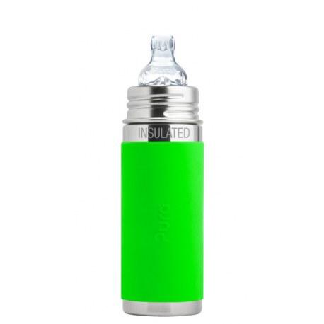 Termobutelka z ustnikiem niekapkiem 260 ml, zielona, Pura