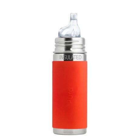 Termobutelka z ustnikiem niekapkiem 260 ml, pomarańczowa, Pura