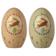 Ozdoby wielkanocne metalowe jajeczka 2szt SS2021, Maileg