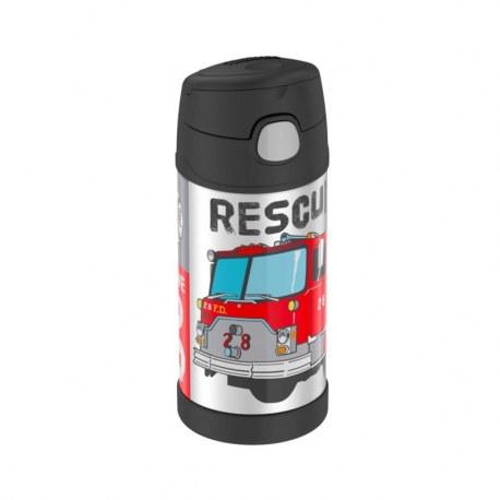 Bidon termiczny dla dzieci z ustnikiem słomką FUNtrainer wóz strażacki 0,35l, Thermos