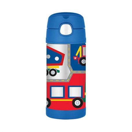 Bidon termiczny dla dzieci z ustnikiem słomką FUNtrainer pojazdy 0,35l, Thermos