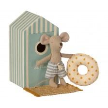 Myszka młodszy braciszek w domku plażowym SS2021, Maileg