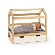 Drewniane łóżeczko dla lalek białe domek Barlia, Musterkind