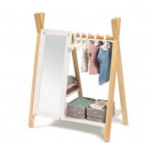 Drewniana garderoba na ubranka dla lalek biała Barlia, Musterkind
