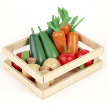 Warzywa drewniany zestaw, Tidlo