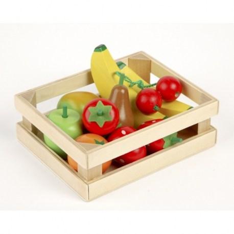 Owoce drewniany zestaw, Tidlo