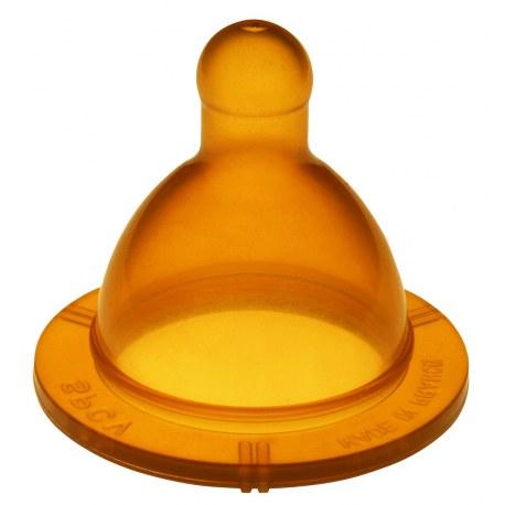 Ekologiczny kauczukowy smoczek do butelek szeroki, tradycyjny (100% naturalny), Goldi