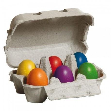Jajka kolorowe w pudełku 6 szt, Erzi