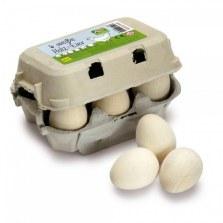Jajka białe w pudełku 6 szt, Erzi