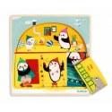 Puzzle dla najmłodszych 3 plansze (Igloo), Djeco