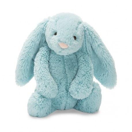 Króliczek Bashful Bunny morski średni 31cm, Jellycat