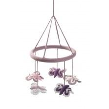 Karuzela mobile dla niemowląt różowe motylki, Smallstuff
