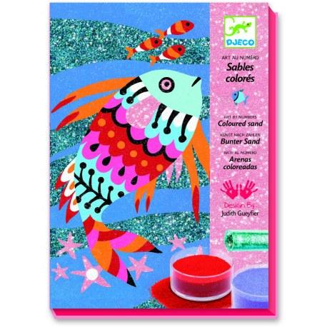 Zestaw artystyczny Tęczowe rybki, Djeco