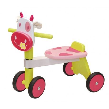 Drewniany jeździk Różowa Krówka, I'm TOY