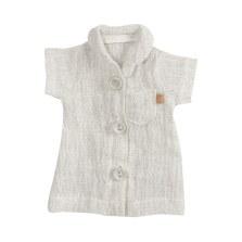 Bluzeczka rozpinana szara dla królika Medium, Maileg