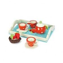Drewniany serwis do herbaty z tacą, Le Toy Van