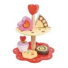 Drewniana dwupiętrowa patera z ciasteczkami, Le Toy Van