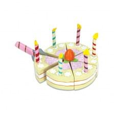 Drewniany waniliowy tort ze świeczkami, Le Toy Van