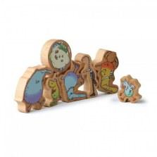 Drewniana układanka dinozaury, Erzi