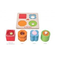 Układanka mini sorter z klockami sensorycznymi, Le Toy Van