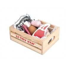 Mięso drewniany zestaw w skrzynce, Le Toy Van