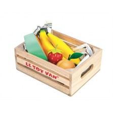 Owoce drewniany zestaw w skrzyneczce, Le Toy Van