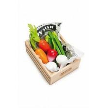 Warzywa drewniany zestaw w skrzyneczce, Le Toy Van