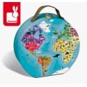 Puzzle w walizce dwustronne Błękitna planeta, Janod