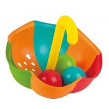 Kolorowy parasol z piłeczkami do wody - zestaw, Hape