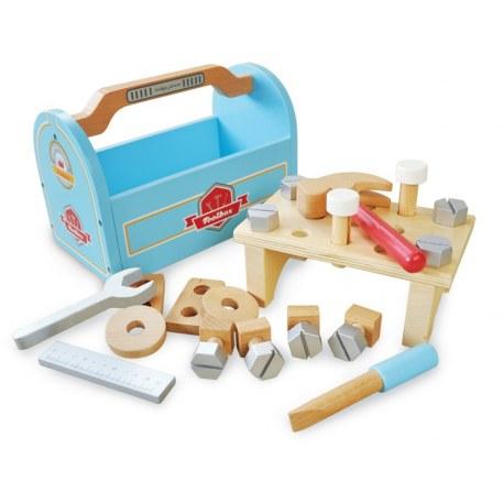 Drewniana skrzynka z narzędziami, Indigo Jamm