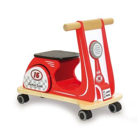 Drewniany jeździk Jamm Scoot czerwony, Indigo Jamm