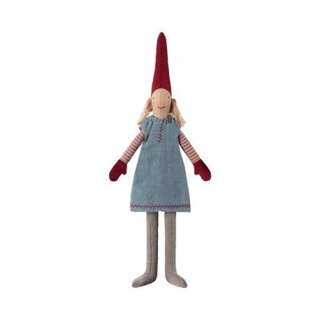 Krasnal PIXY Mini Dziewczynka w niebieskiej sukience, Maileg