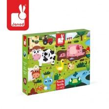 Puzzle sensoryczne Farma, Janod