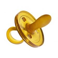 Ekologiczny kauczukowy smoczek uspokajacz –  owalny od 6mca, Goldi