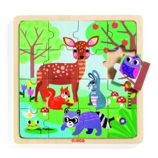 Puzzle drewniane 16-elementowe Las, DJECO