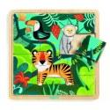 Puzzle drewniane 15-elementowe Dżungla, DJECO