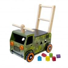 Drewniany Jeździk pchacz Pojazd wojskowy, I'm Toy