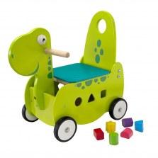 Drewniany Jeździk pchacz Dinozaur, I'm Toy