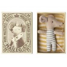 Myszka Dzidziuś sleepy - wakey chłopczyk w pudełku FW2018, Maileg