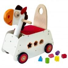 Drewniany Jeździk pchacz i bujaczek Konik, I'm Toy