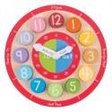 Drewniany zegar edukacyjny, Bigjigs