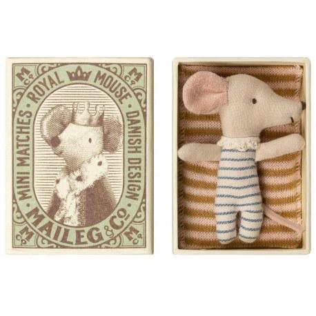 Myszka Dzidziuś sleepy - wakey chłopczyk w pudełku SS2019, Maileg