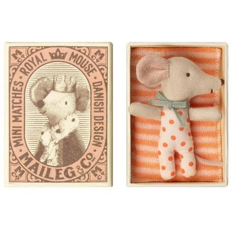 Myszka Dzidziuś sleepy - wakey dziewczynka w pudełku SS2019, Maileg
